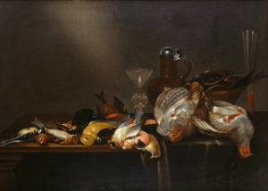 Cornelis Mahu, Still Life with Game Birds