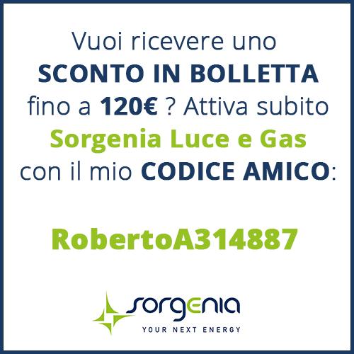 Codice Amico Sorgenia RobertoA314887