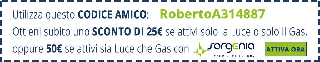 Codice Amico Sorgenia: RobertoA314887